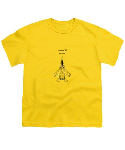 F-15 Eagle Youth T-Shirt by Mark Rogan
