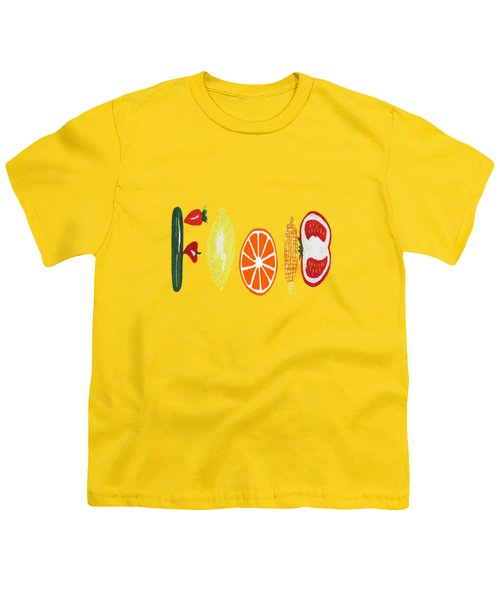 Good Eats Youth T-Shirt by Kathleen Sartoris