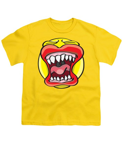 Hungry Pacman Youth T-Shirt by Jorgo Photography - Wall Art Gallery