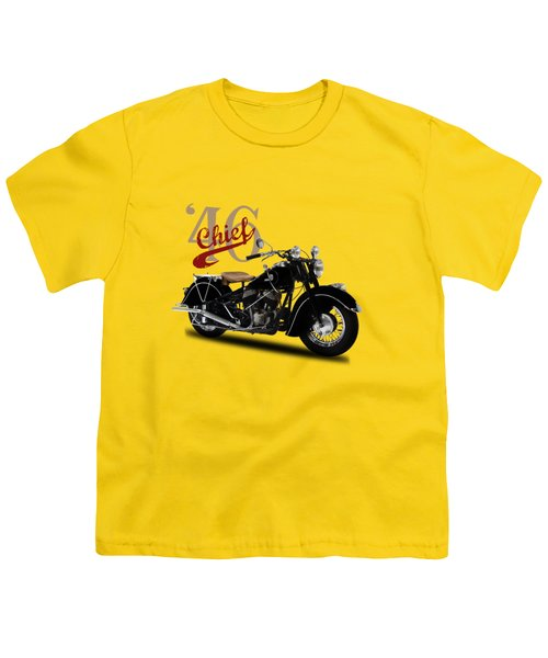 Indian Chief 1946 Youth T-Shirt by Mark Rogan