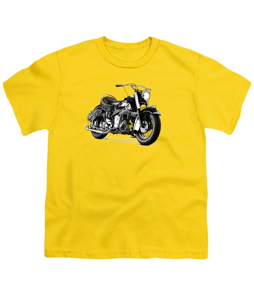 Indian Chief Roadmaster 1953 Youth T-Shirt by Mark Rogan