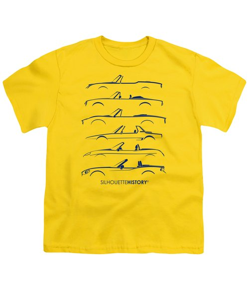 Italian Roadster Silhouettehistory Youth T-Shirt
