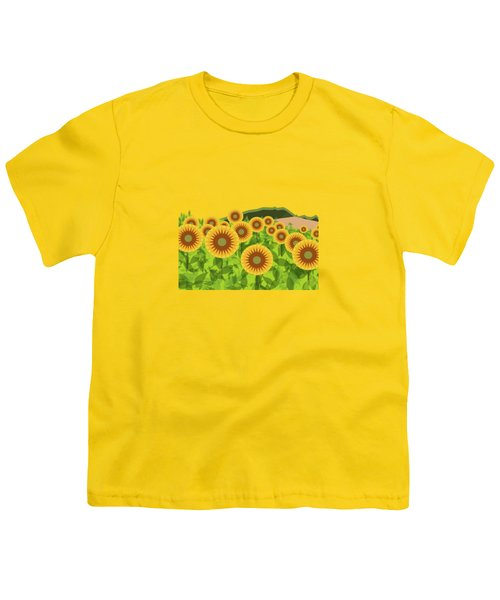 Land Of Sunflowers. Youth T-Shirt by Absentis Designs