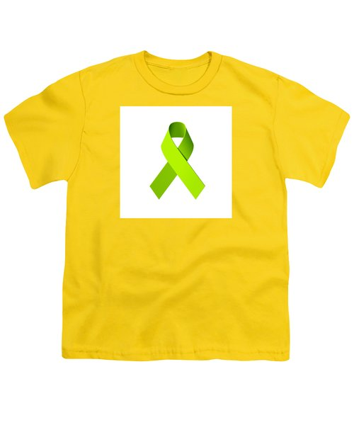 Lyme Disease Awareness Ribbon  Youth T-Shirt