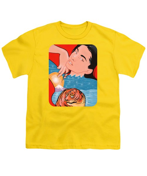 Mount Fuji Tiger Companion Golden Moon  Youth T-Shirt
