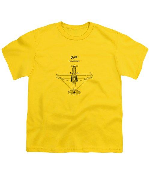 P-40 Warhawk Youth T-Shirt by Mark Rogan
