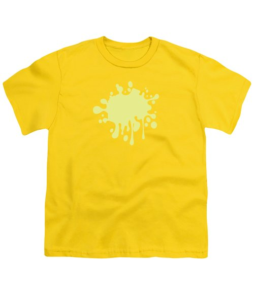 Solid Yellow Pastel Color Youth T-Shirt