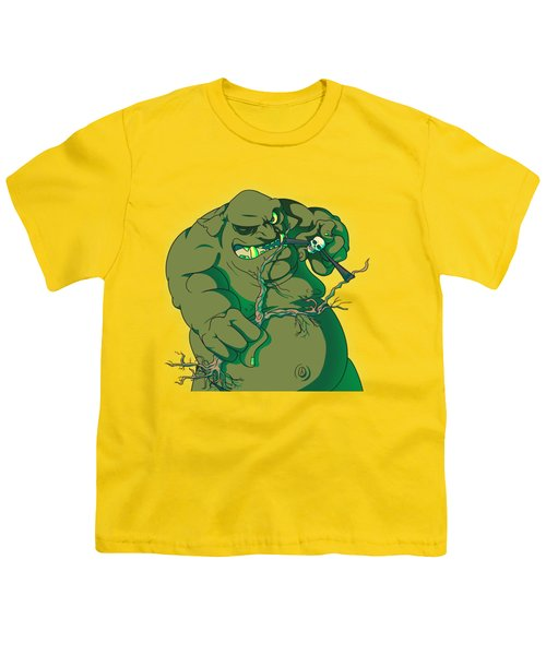 Storybook Ogre Shooting Heads Youth T-Shirt by Jorgo Photography - Wall Art Gallery