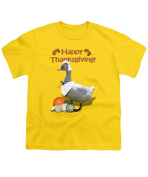 Thanksgiving Pilgrim Duck Youth T-Shirt