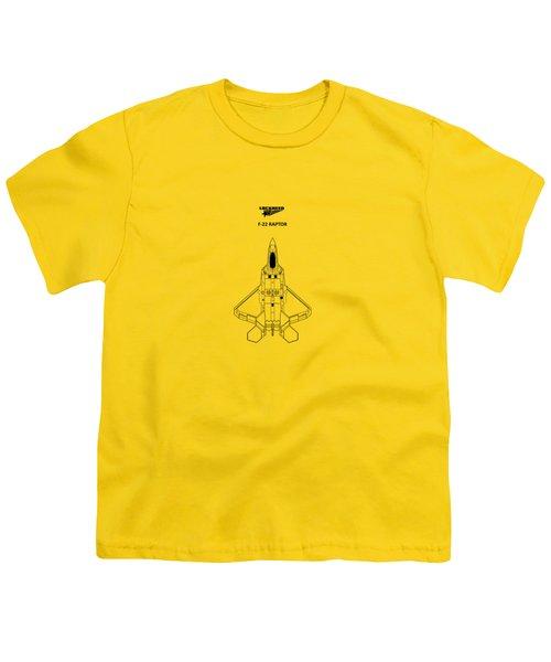 The F-22 Raptor Youth T-Shirt by Mark Rogan