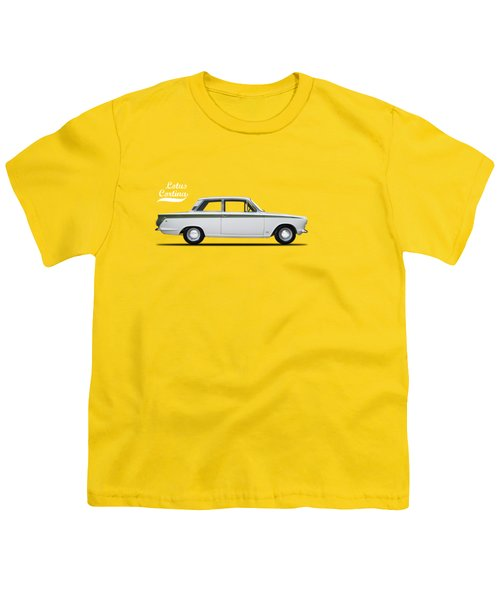 The Lotus Cortina Youth T-Shirt by Mark Rogan