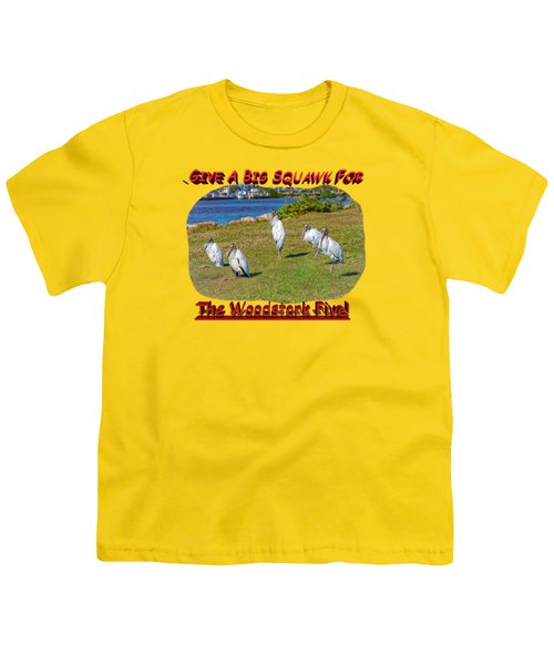 The Woodstork Five Youth T-Shirt by John M Bailey