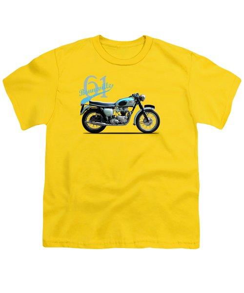 Triumph Bonneville 1961 Youth T-Shirt by Mark Rogan