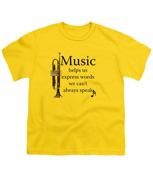 Trumpet Music Expresses Words Youth T-Shirt