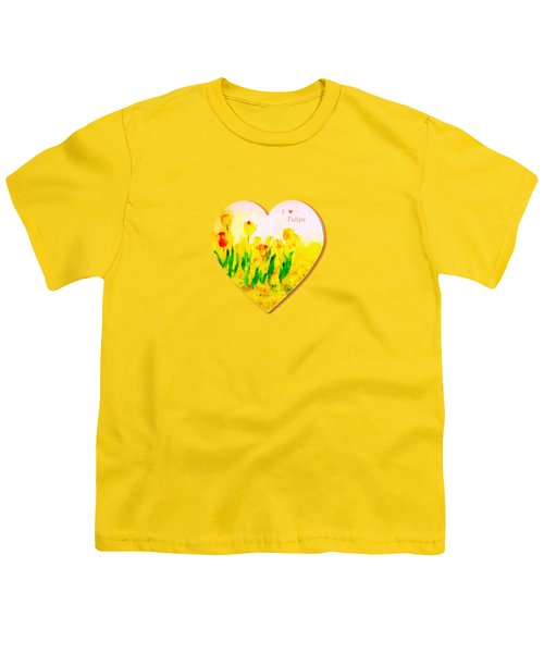 Tulips In Springtime-floral Painting By V.kelly Youth T-Shirt