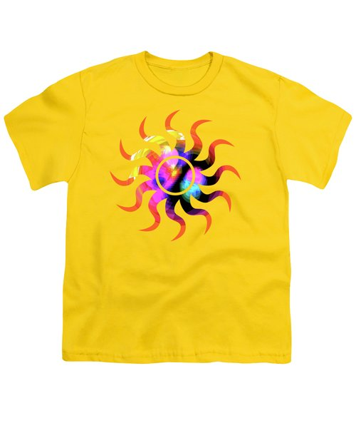 Vibrant Circle On Orange Youth T-Shirt