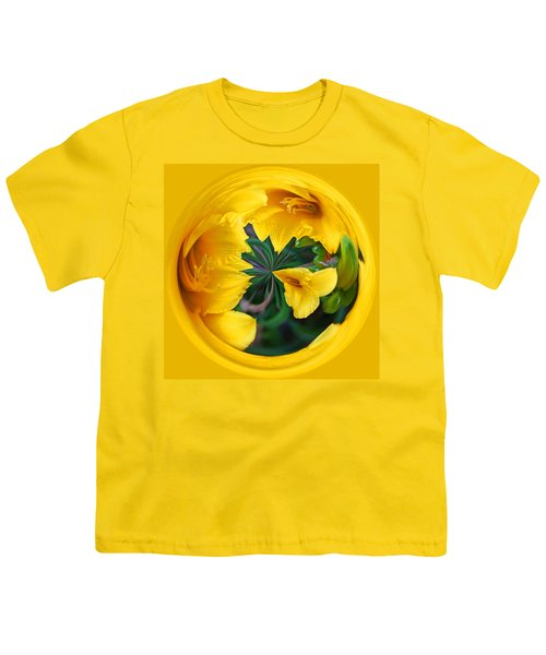 Yellow Lily Orb Youth T-Shirt by Bill Barber