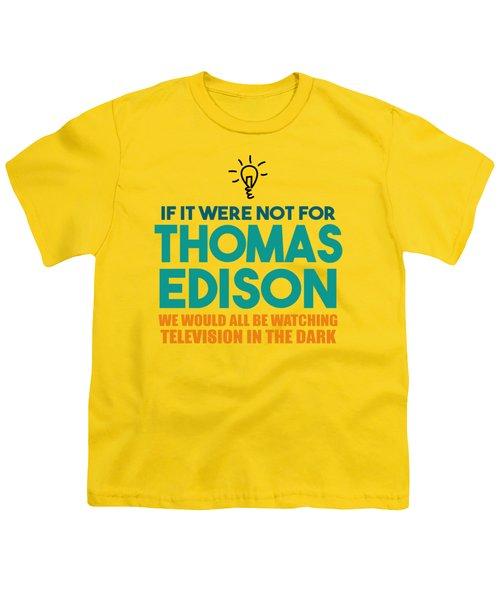 Thomas Edison Youth T-Shirt