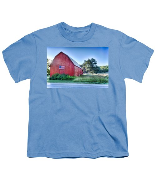 Youth T-Shirt featuring the photograph American Barn by Sebastian Musial