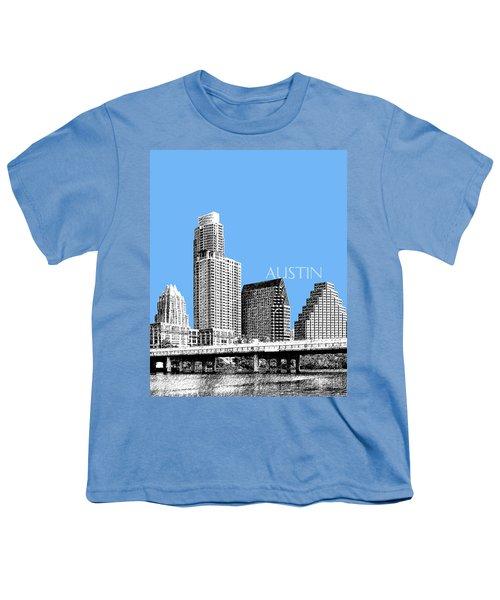 Austin Skyline - Sky Blue Youth T-Shirt