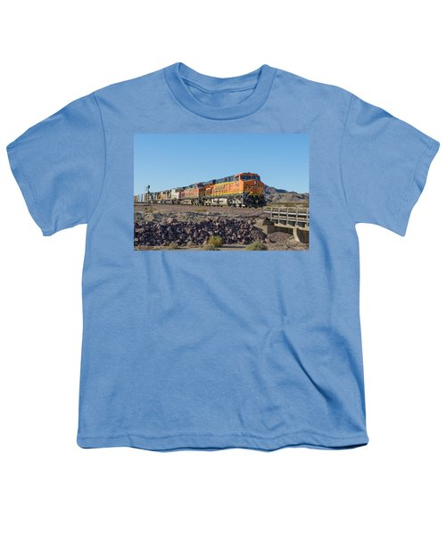 Youth T-Shirt featuring the photograph Bnsf 7649 by Jim Thompson