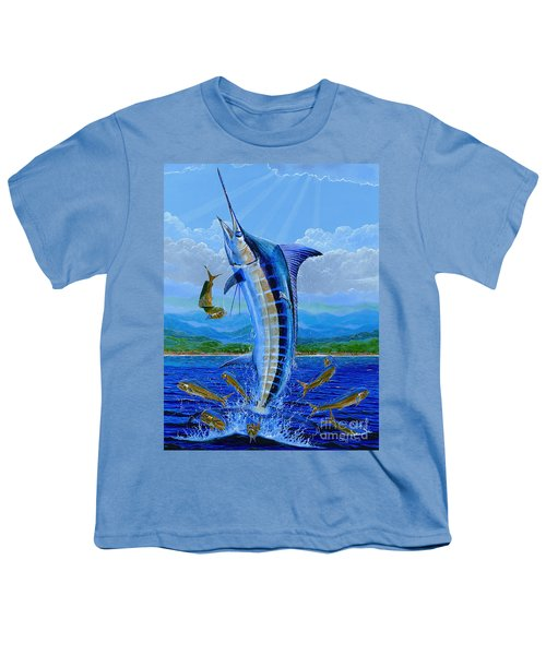 Caribbean Blue Off0041 Youth T-Shirt by Carey Chen
