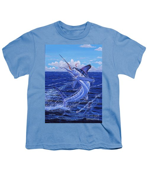 Flat Line Off0077 Youth T-Shirt by Carey Chen