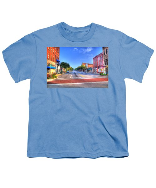 Youth T-Shirt featuring the photograph Front Street Marietta by Jonny D