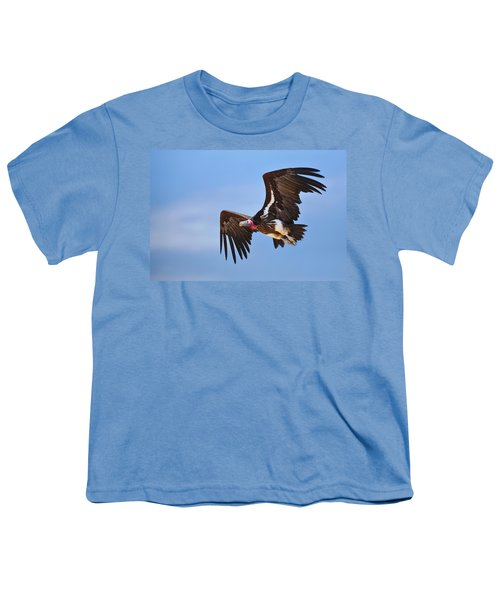 Lappetfaced Vulture Youth T-Shirt by Johan Swanepoel