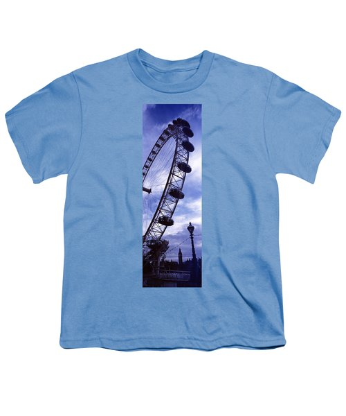 Low Angle View Of The London Eye, Big Youth T-Shirt by Panoramic Images