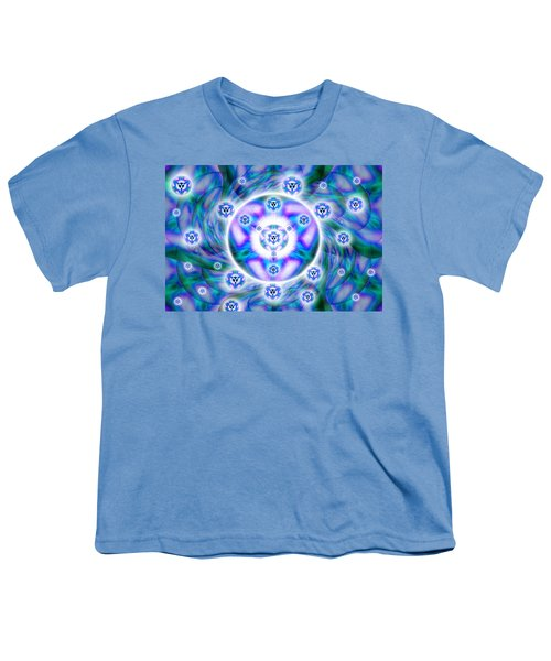 Magnetic Fluid Harmony Youth T-Shirt by Derek Gedney