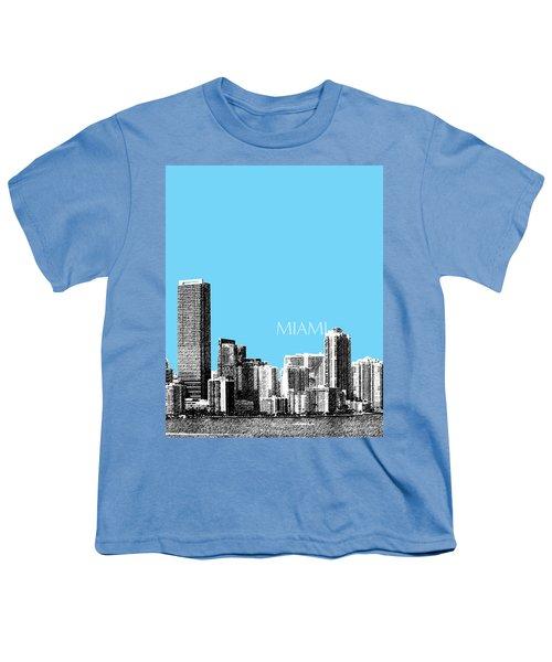 Miami Skyline - Sky Blue Youth T-Shirt