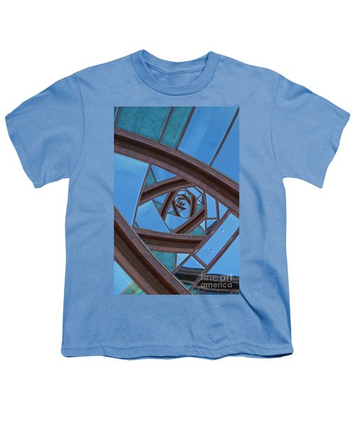 Youth T-Shirt featuring the photograph Revolving Blues. by Clare Bambers