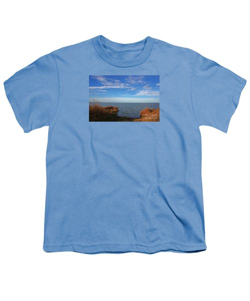 Youth T-Shirt featuring the photograph Sky Water And Grasses by Nareeta Martin
