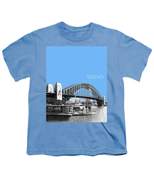 Sydney Skyline 2 Harbor Bridge - Light Blue Youth T-Shirt