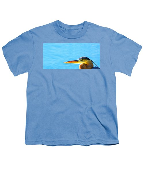 The Great One - Blue Heron By Sharon Cummings Youth T-Shirt by Sharon Cummings