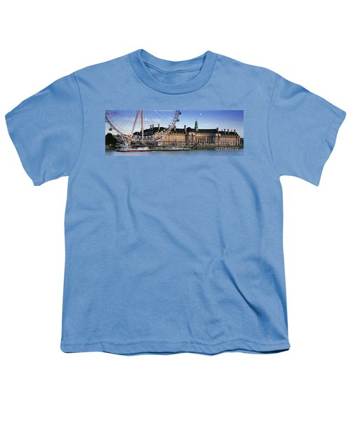 The London Eye And County Hall Youth T-Shirt by Rod McLean