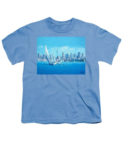 The Regatta Sydney Habour By Jan Matson Youth T-Shirt by Jan Matson