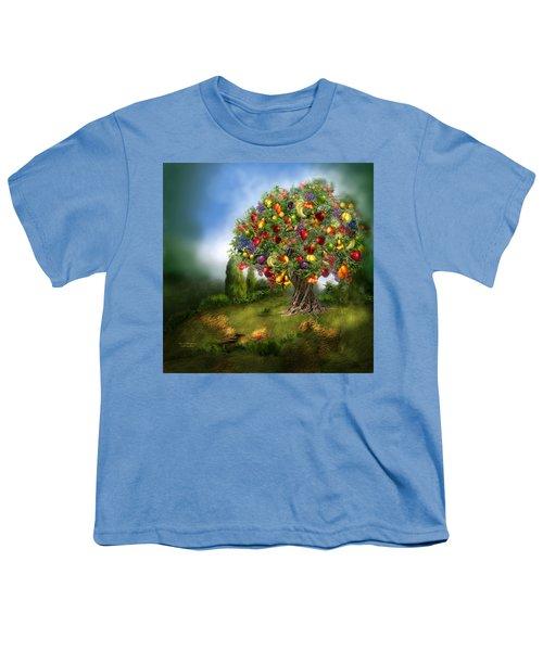 Tree Of Abundance Youth T-Shirt by Carol Cavalaris
