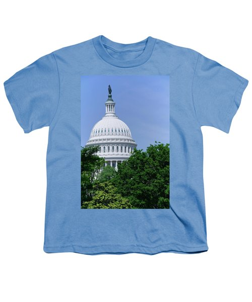 Trees In Spring And U.s. Capitol Dome Youth T-Shirt