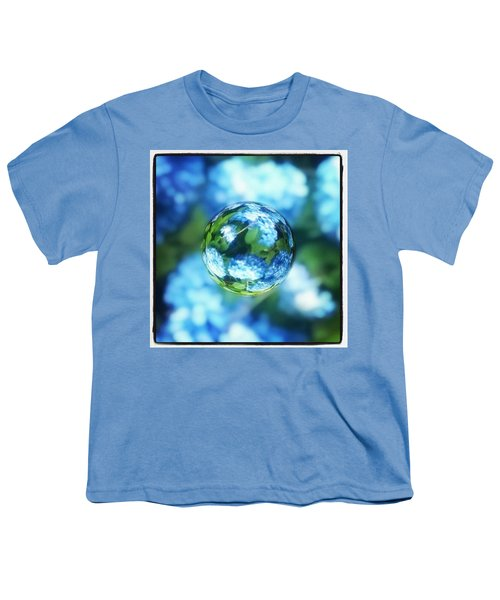 Marbled Blue Hydrangea Youth T-Shirt