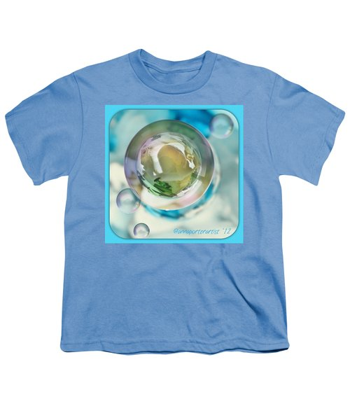 White Gladiola Marble In A Bubble Youth T-Shirt