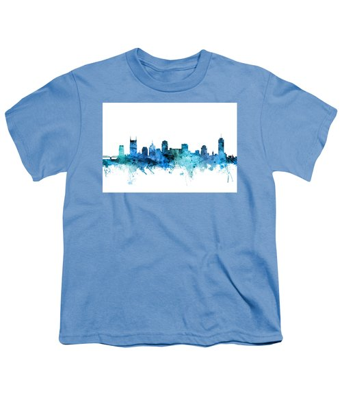 Nashville Tennessee Skyline Youth T-Shirt