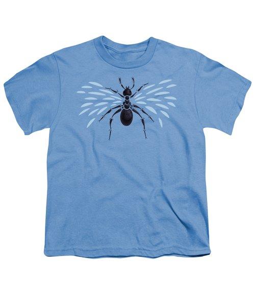 Abstract Winged Ant Youth T-Shirt by Boriana Giormova