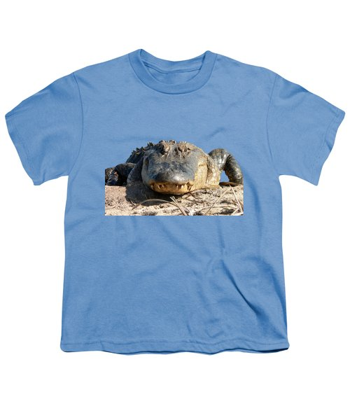 Alligator Approach .png Youth T-Shirt by Al Powell Photography USA
