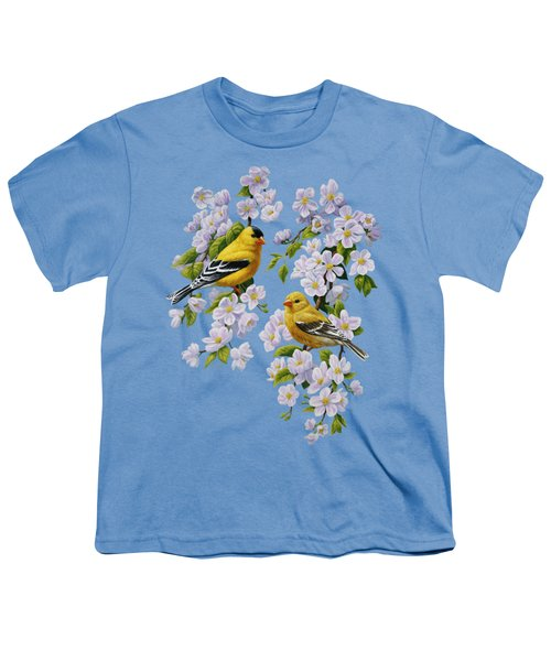 American Goldfinch Spring Youth T-Shirt by Crista Forest