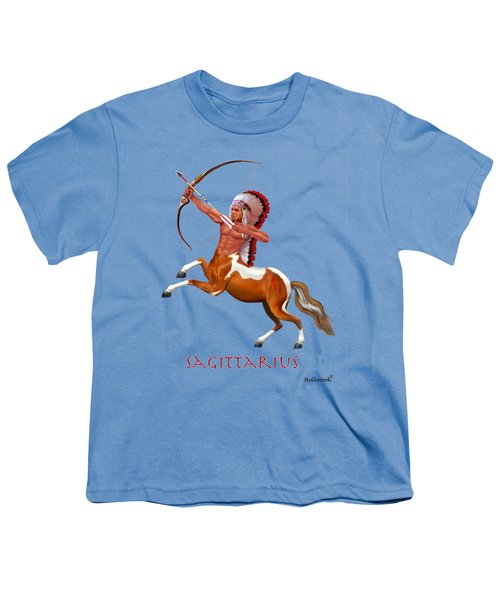 Native American Sagittarius Youth T-Shirt by Glenn Holbrook