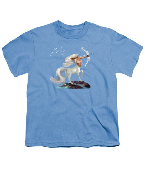 Mystical Sagittarius Youth T-Shirt by Glenn Holbrook
