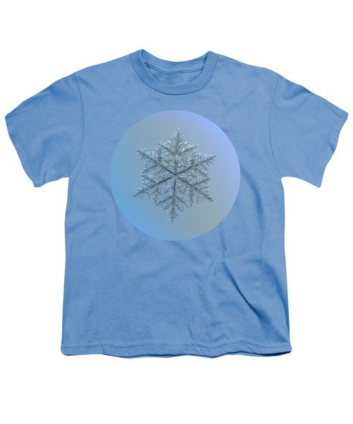 Snowflake Photo - Majestic Crystal Youth T-Shirt by Alexey Kljatov