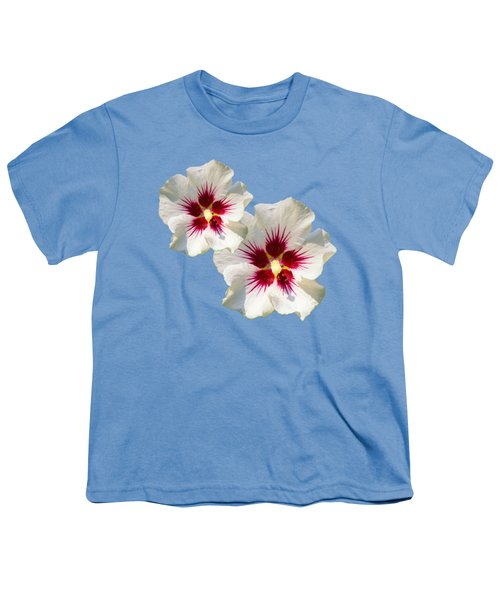 Hibiscus Flower Pattern Youth T-Shirt by Christina Rollo